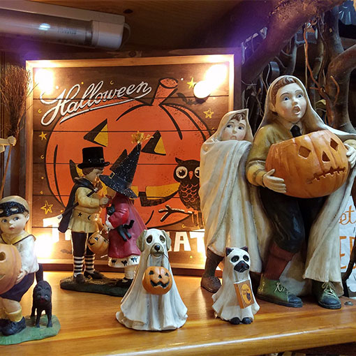 Festive fall decor in our gift shop at Howell's Pumpkin Patch