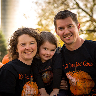 Erin and Steve are among the friendly family members you'll see at Howell's Pumpkin Patch and Dried Florals in Cumming, Iowa.