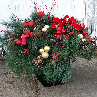 Elegant Christmas Decor and Handmade wreaths from Howell's Floral