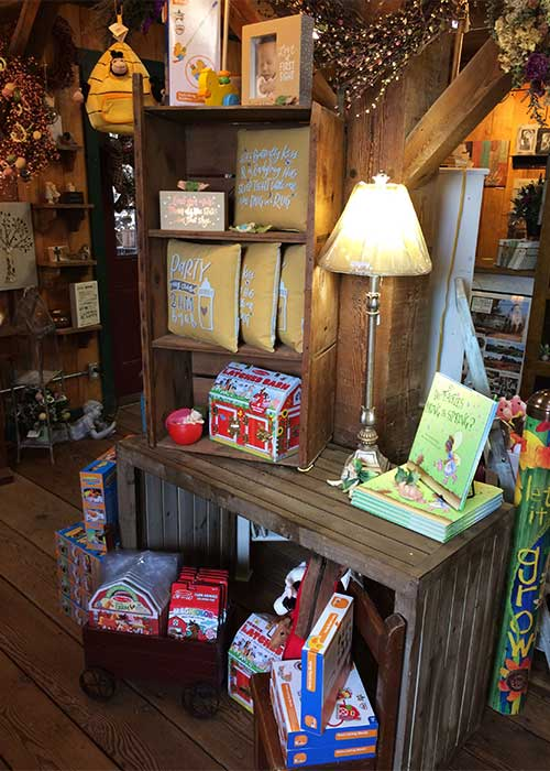 The gift barn has great baby gift items and toddler toys!