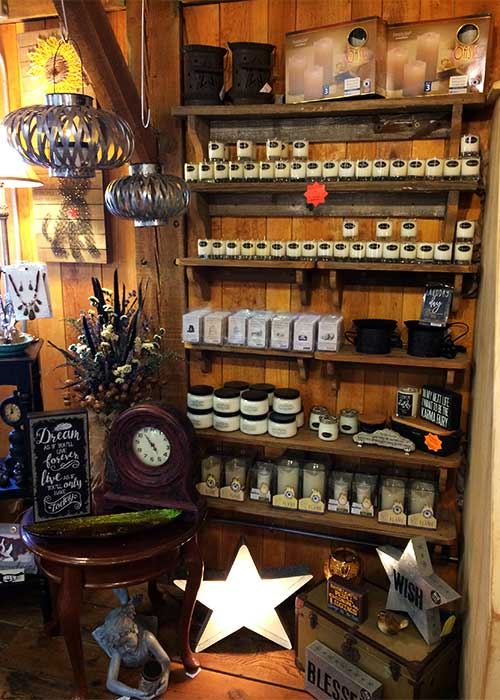 Explore our delightfully fragrant candle displays!